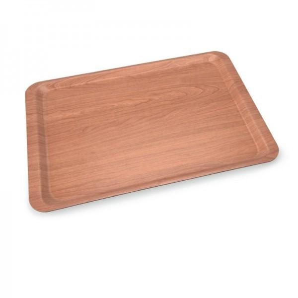 Schichtstoff-Tablett - wallnuss braun - versch. Größen - rutschfest