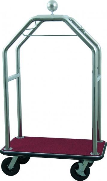 Gepäckwagen - Edelstahl - silber - versch. Teppichfarben