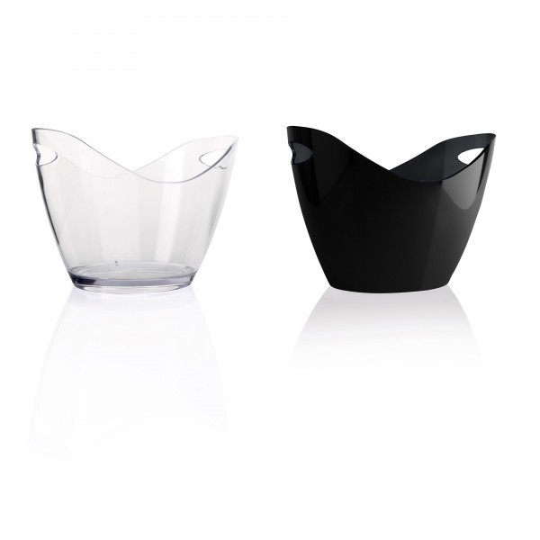 Champagnerkühler - Kunststoff - transparent oder schwarz 1530270