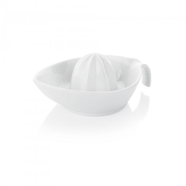Zitruspresse - Porzellan - weiß