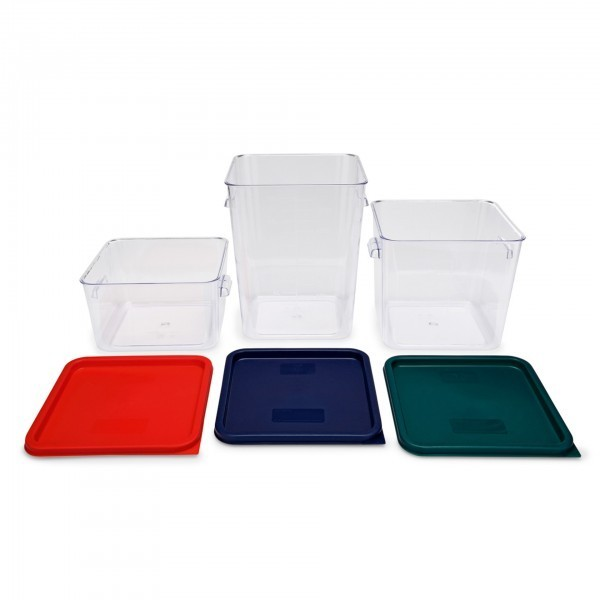 Vorratsbehälter - Polycarbonat - rechteckig - farbige Literskalierung - premium Qualität