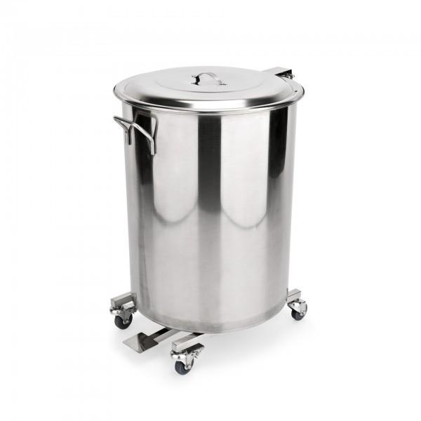 Abfallbehälter - Chromnickelstahl - mit Fußpedal