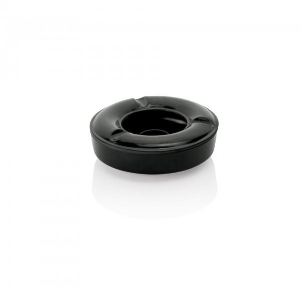 Windaschenbecher - Melamin - schwarz - 2-teilig - extra preiswert