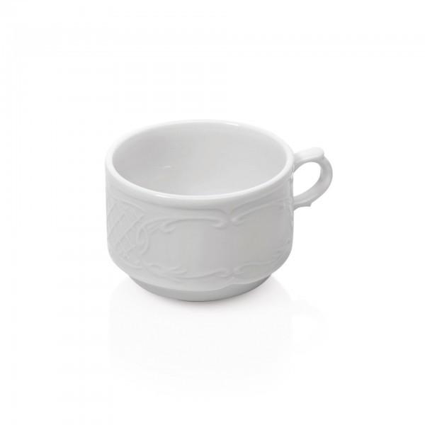 Cappuccino-Tasse - Serie Bavaria - Porzellan - mit Dekorrand - premium Qualität