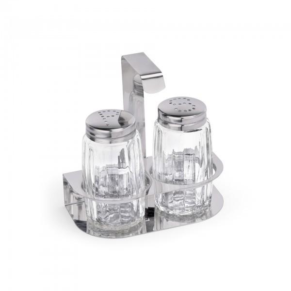 Menage - Glas - Salz und Pfeffer