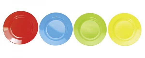 Melamin-Teller - versch. Farben - flach - Ø 23 cm