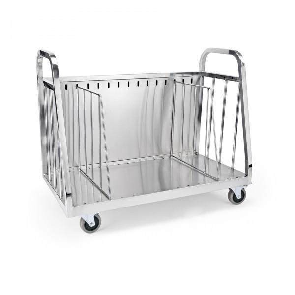 Geschirrabräumwagen - Chromnickelstahl - verstellbare Trenngitter