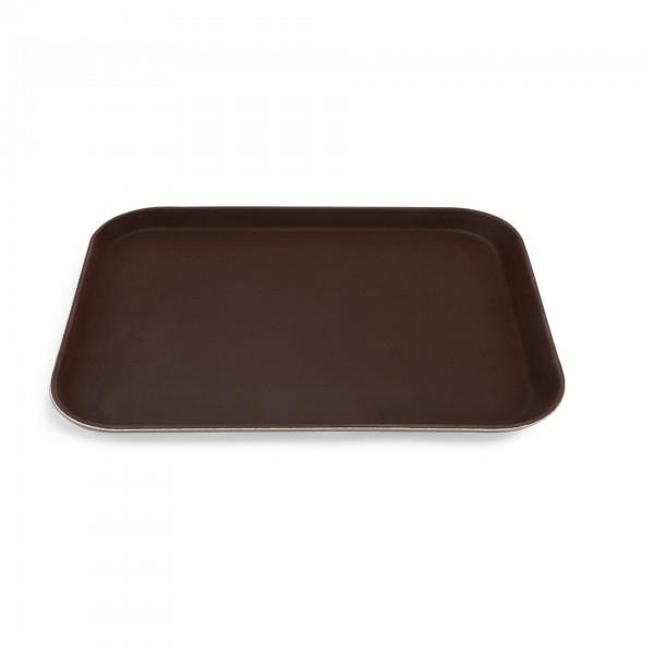 Tablett - Polyester - braun - mit rutschhemmender Oberfläche