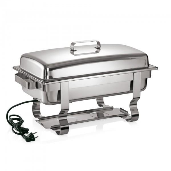 Elektro Chafing Dish - Chromnickelstahl - mit CNS Domdeckel