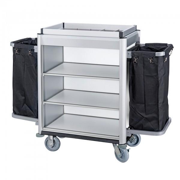 Wäschesammelwagen - Serie Isabella - Aluminium - Aluoptik - helle Kantenprofile - premium Qualität