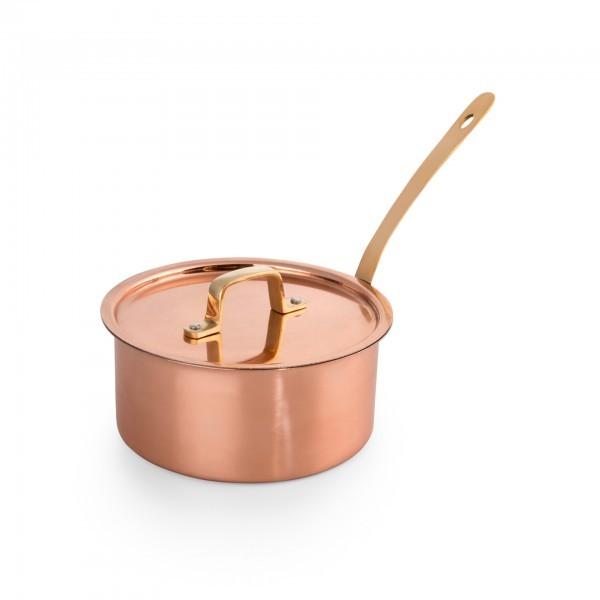 Stielkasserolle - Chromnickelstahl - Kupferoptik - mit Stielgriff